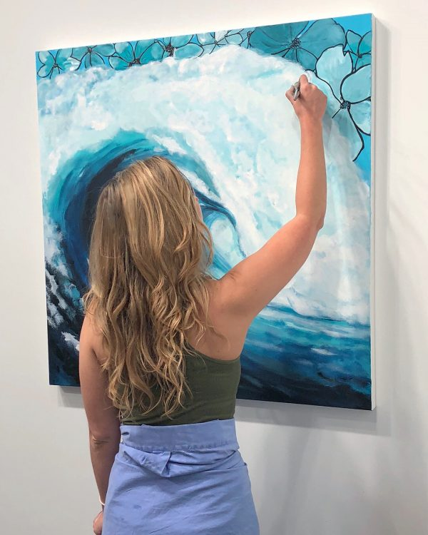 jessi lee huey painting new wave original at SU gallery